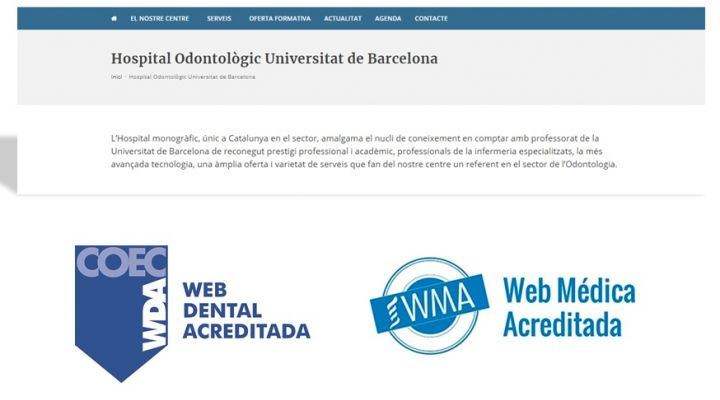 La web del HOUB recibe el sello de calidad del COEC